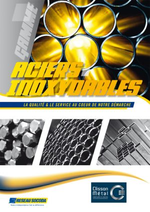 Catalogue Aciers inoxydables Clisson Métal